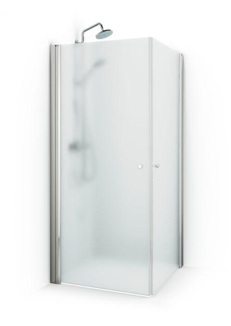 Duschhörna Macro Skagen Rak MHSI Natur Profil Ice 700x800 (800x700) mm