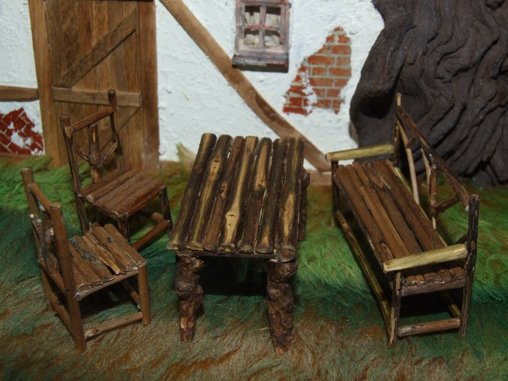 Make this miniature Rustic Twig Furniture in the 2013 version of Dolls House Projects (Our sister publication) on sale 27th Sept 2012. Copies can be bought online at www.dollshouseprojects.co.uk, over the phone by calling 01778 392007 or on the UK high street from your local Hobbycraft store or WHSmiths