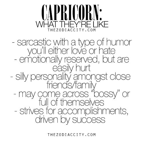 Capricorn: What They're Like. For much more on the zodiac signs, click here.