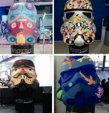 Descubre los cascos stormtrooper intervenidos por artistas mexicanos en esta atípica exposición