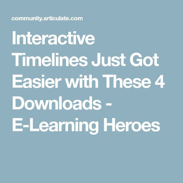 Interactive Timelines Just Got Easier with These 4 Downloads - E-Learning Heroes