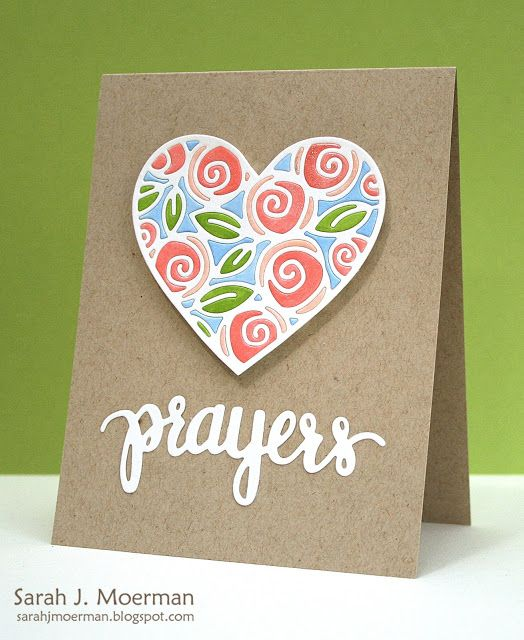 My Impressions: Simon Says Stamp Floral Prayers Card!