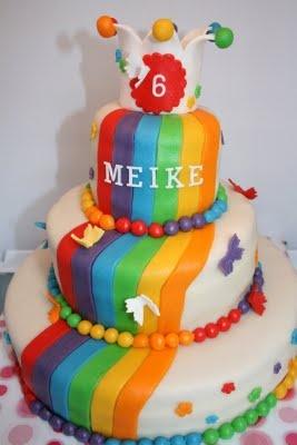 Tip Top Taartjes: Alle kleuren van de regenboog voor Meike
