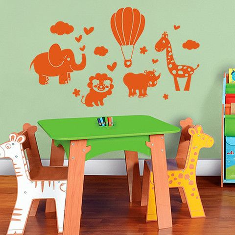 Baby Animal Safari Wall Decal - Order Online – Oh Divine! Wall Art