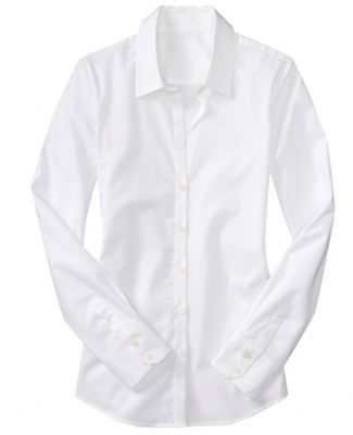 Oh what I would give for the perfect white button front shirt that actually fit in the bust.......