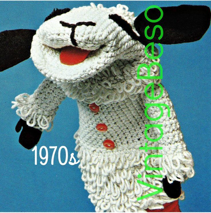 Lamb Chop CROCHET Pattern Vintage Lamb Chop KNITTING ...