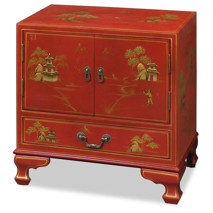 Chinoiserie Scenery Design Lamp Table Chinoiserie Furniture Pinte