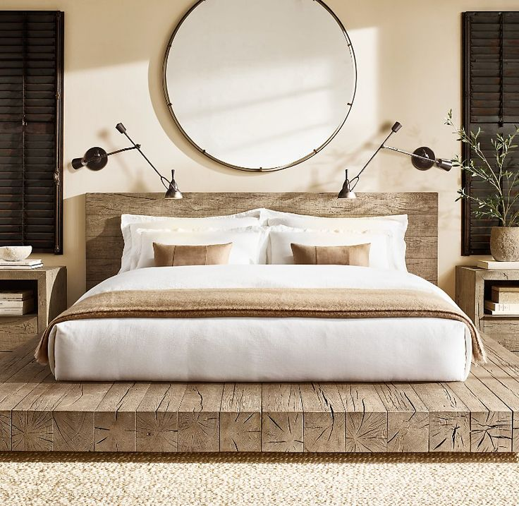 Aspen French Oak Platform Bed in 2020 Platform bed
