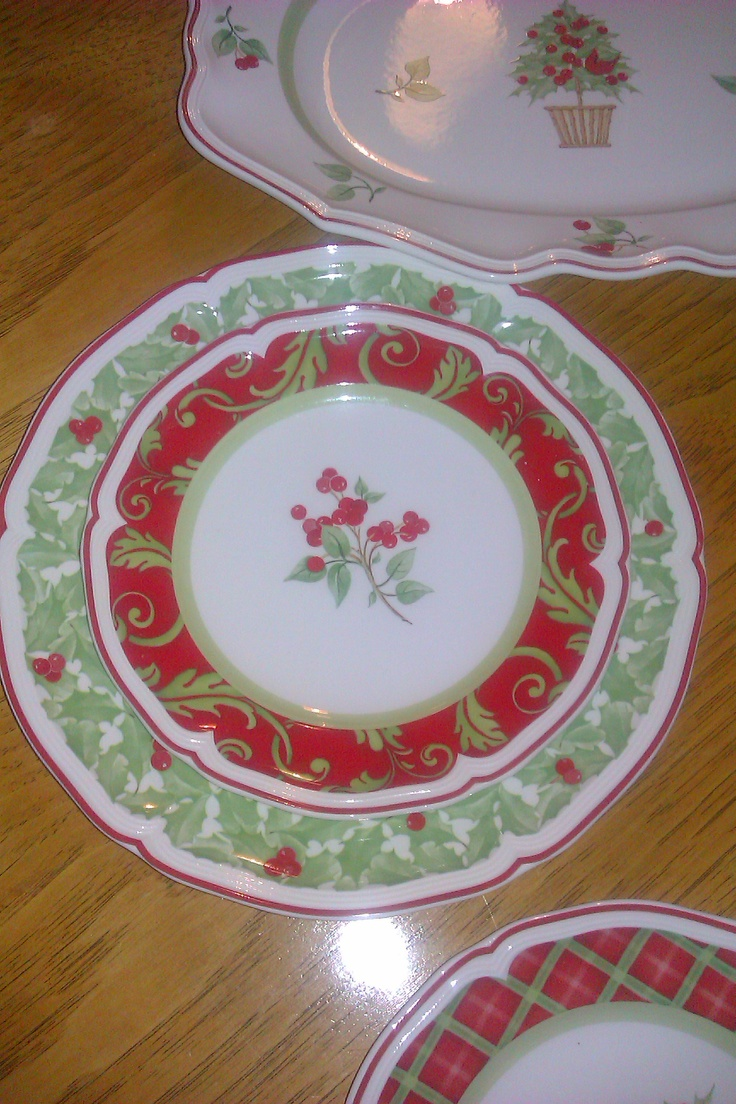 My Villeroy & Boch Christmas Dishes  Joyeux Noelle  Another Style In The  Cake Plates