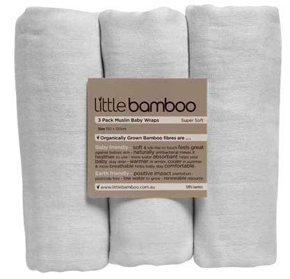 Little Bamboo Muslin Wrap 3pack