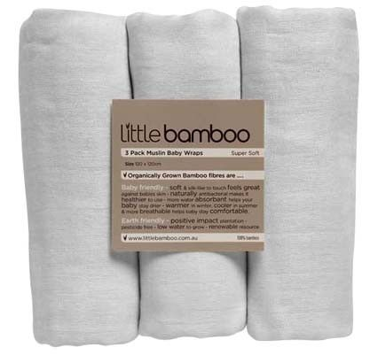Little Bamboo Muslin Wrap 3pack - Swaddling - Clothing, Swaddling, Manchester | The One Stop Baby Shop | Baby Bunting