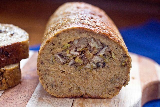 Seitan Roast Stuffed With Shiitakes And Leeks | Post Punk Kitchen | Vegan Baking & Vegan Cooking