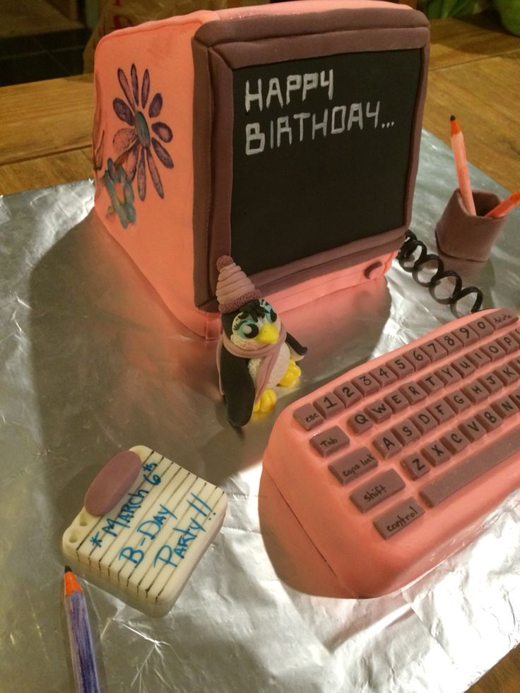 1000 Ideas About Computer Cake On Pinterest Cakes