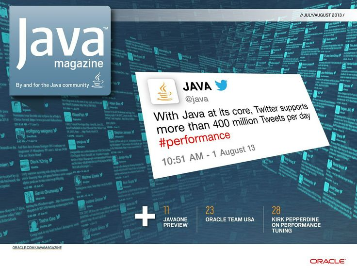 Java Magazine - July/August 2013 - Front Cover