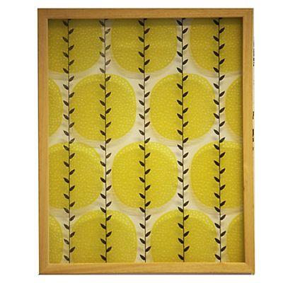 Fogli Cadre en bois clair avec verre imprimé jaune 40x50cm