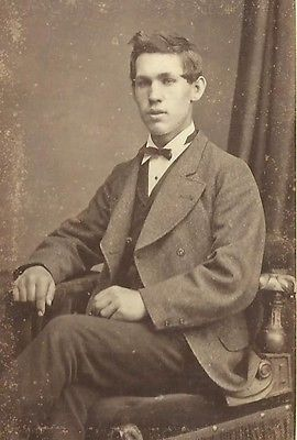 CDV PHOTO HANDSOME CLEAN CUT YOUNG GENTLEMAN SEATED BY: JOHN FOSTER COLDSTREAM