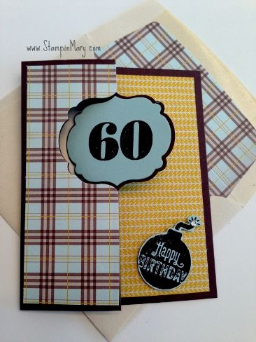 Birthday Flip Card by Creative Mary - Cards and Paper Crafts at Splitcoaststampers