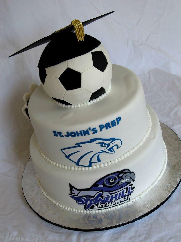 Happy Cakes Bakes Soccer Graduation Cake Cakes