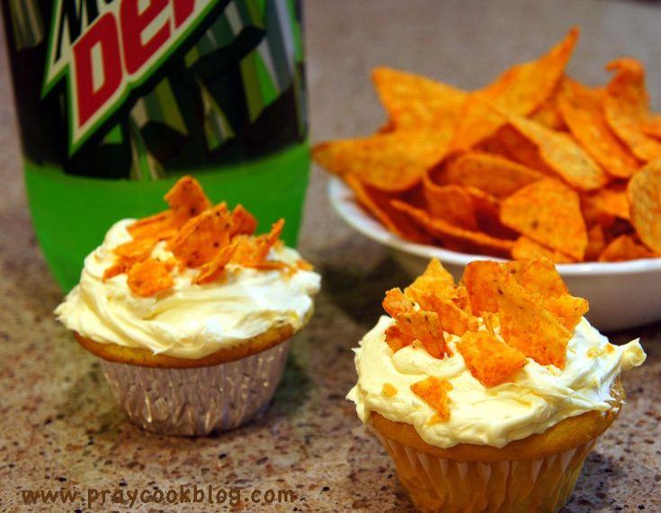 Mt. Dew and Doritos Cupcakes!
