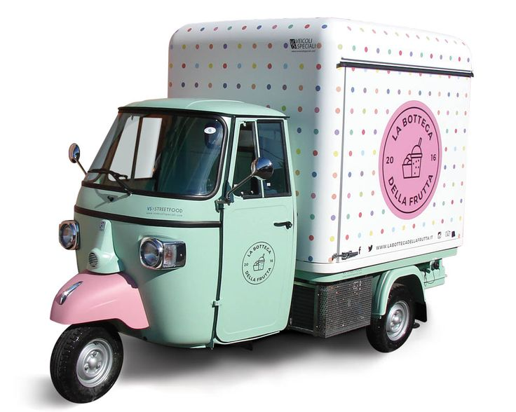 Piaggio Van for Smoothies and Juicers street vending