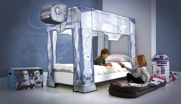 Star wars canopy for bed .http://wallartkids.com/star-wars-themed-bedroom-ideas #starwars