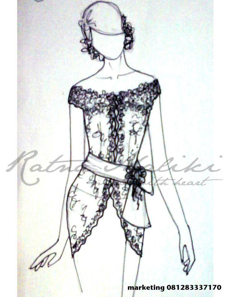 Ratna Maliki, Model Kebaya Modern Lengan Pendek
