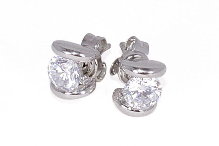 Coleccion Oro y Plaza : Topos en plata con zircon