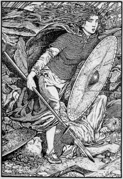 Lagertha was, according to legend, a Danish Viking shieldmaiden from what is now Norway, and the onetime wife of the famous Viking Ragnar Lodbrok. Her tale, as recorded by the chronicler Saxo in the 12th century, may be a reflection of tales about Þorgerðr Hölgabrúðr, a Norse deity. Her name as recorded by Saxo, Lathgertha, is likely a Latinization of the Old Norse Hlaðgerðr (Hladgerd).