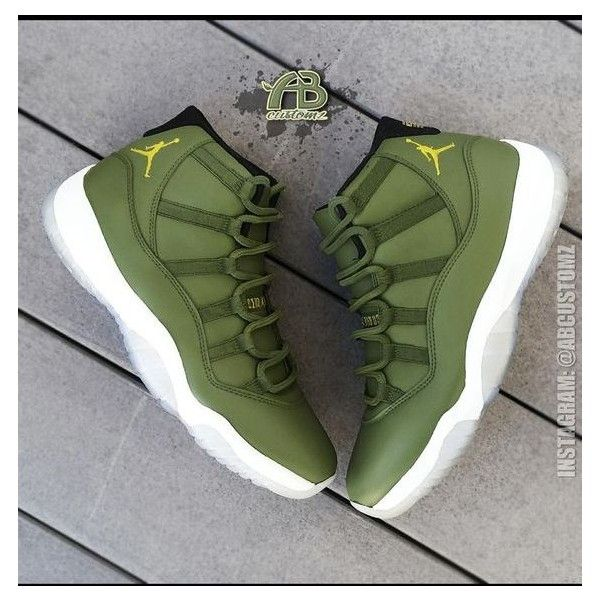 Shoes: jordans green sneakers high top sneakers ❤ liked on Polyvore featuring shoes, sneakers, green high tops, hi tops, green trainers, green sneakers and high top trainers