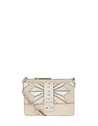 d3e296392fd0 Glam stud detailing and metallic appliqué panels make our Demi cross-body  bag a style game changer. Its front section secures with a glossy lock