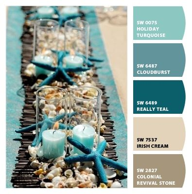 Beach Wedding Tablescape Color SchemesBeach