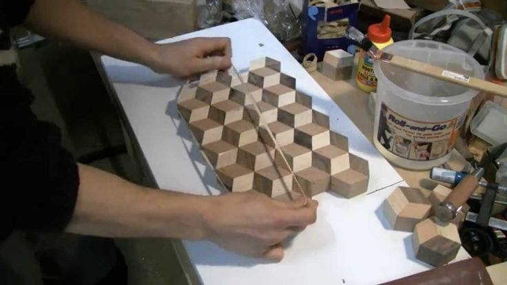 Woodworking Making A 3d Tumbling Cutting Board Wood