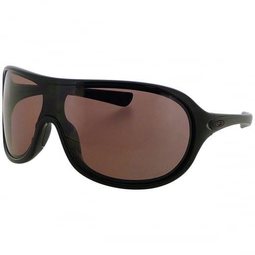 """Oakley Ladies """"Immerse"""" Black Aviator Wraparound Sunglasses With Rose Polarised Lenses. Model Number: OO9131 05. Iconic wraparound polarised sunglasses blending cutting edge Oakley technology with retro styling - the perfect combination of good looks and unrivalled performance."""