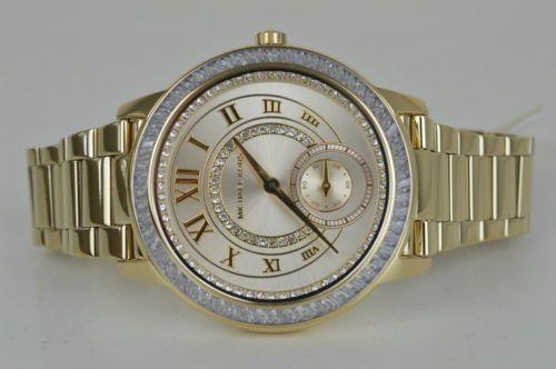 Michael-Kors-Damenuhr-Uhr-Madelyn-MK6287-Gold-mit-Steinen-Women-Ladies-Watch