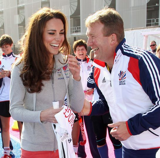 Kate meeting with the British Olympic hockey team.