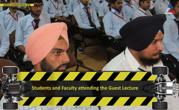 """A guest lecture on """"Powertrain Technology Advancements"""" organized by Department of Mechanical Engineering, #ACET where Chief Guest Mr. Harchetan Singh Aneja Deputy Manager, R&D Maruti Suzuki India Ltd interacted with the students"""