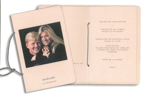 On 2 February 2002,  Willem-Alexander married the woman of his heart, a young Argentine named Maxima . After the religious ceremony, the couple offered to its guests a reception at the Royal Palace in Amsterdam.