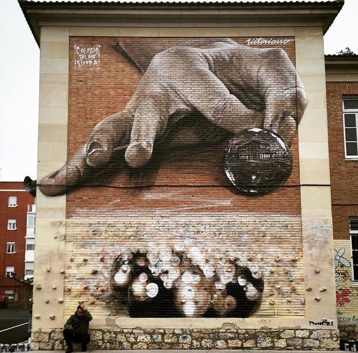 Palencia, Spain: new piece by spanish street artist Victoraino Marbella, Spain: new piece by spanish street artist Victoraino