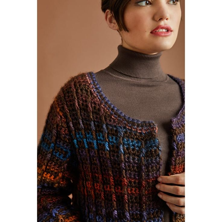 Colorfully Modern Cardigan (Crochet) - Lion Brand Yarn ...