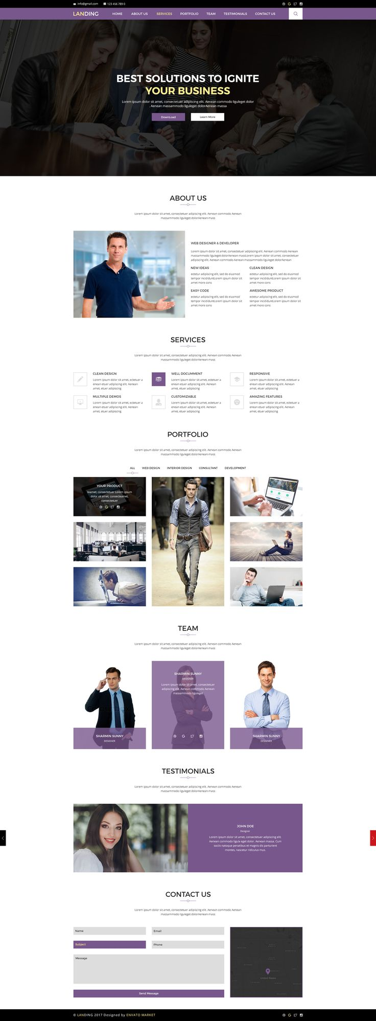 Landing Page / Creative Portfolio PSD Template by desvo | ThemeForest