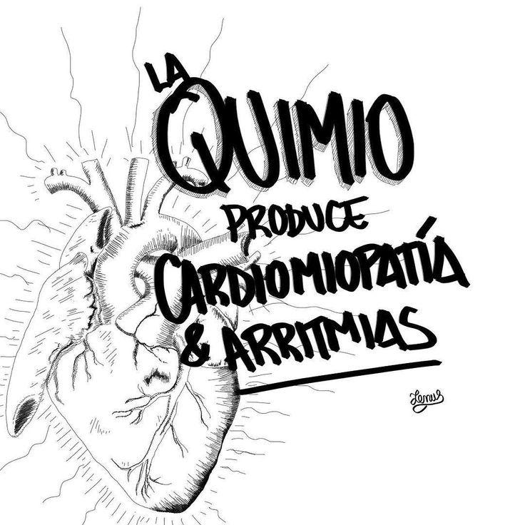 La quimioterapia puede producir debilitamiento del músculo cardíaco (cardiomiopatía) y transtornos del pulso (arritmias). Por eso los sobrevivientes de la quimio suelen morir por problemas cardiovasculares que es la principal causa de muerte en el mundo.  Aunque hay alternativas naturales que cada vez toman más fuerza en lenus.me está el tratamiento natural para el cáncer.  Si quieres las fuentes de esta afirmación/ilustración escríbeme por mensaje directo.