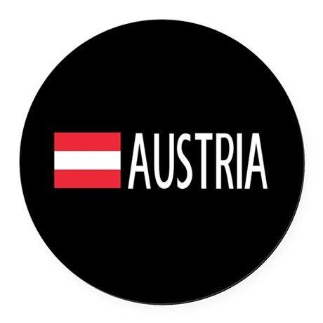 Austria: Austrian Flag & Austria Round Car Magnet on CafePress.com