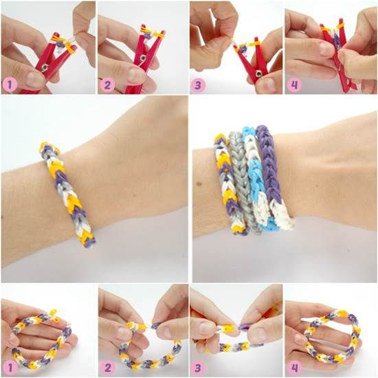 How to DIY Rubber Band Bracelet with a Clothespin | iCreativeIdeas.com Like Us on Facebook ==> https://www.facebook.com/icreativeideas