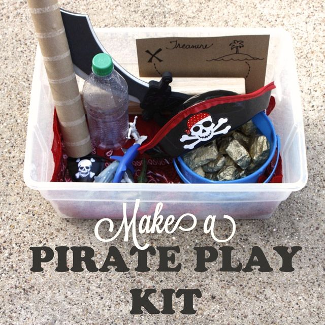 Talk Like a Pirate Day is THIS FRIDAY. Are you ready?! Here's an easy-to-make Pirate Play Kit.