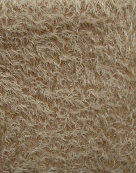 Ultra Sparse Antique Gold Mohair with curly matte finish  1/2 Pile 9x 11 piece