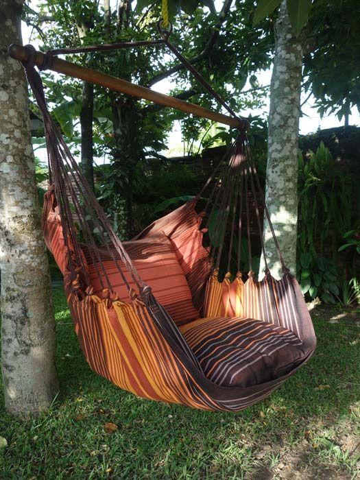 silla colgante lazy caoba sillas colgantes mundo de hamacas el autntico desde