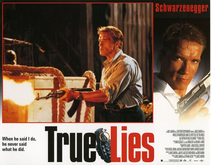 TRUE LIES (1994) Lobby Card Set VF+ w/ SCHWARZENEGGER & Jamie Lee CURTIS - Lewis Wayne Gallery