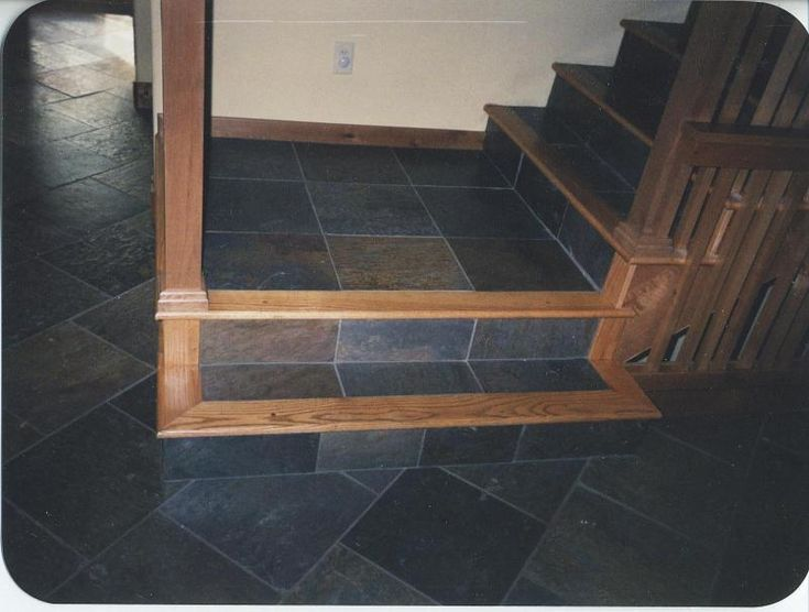 Kendalls Custom Wood Floors Inc Red Oak And Slate Tile