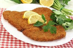 Pork Schnitzel - Use thin cut pork chops and pound them even thinner. I have found that the thinner ones not only cook better, but are more tender and taste better.