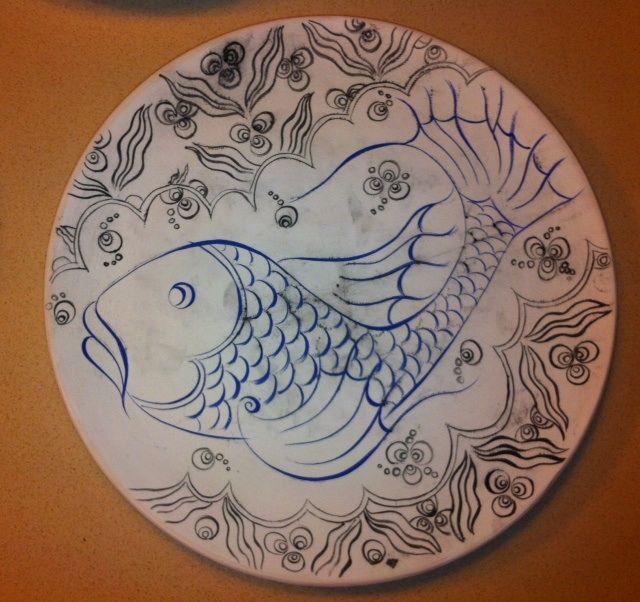 MADE BY Benian arsiray @benianarsiray  şeker balığım çini ceramic tile
